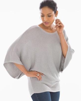 Shine Cotton Blend Kimono Sleeve Sweater Grey