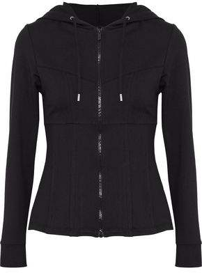 Cushnie et Ochs Mélange Stretch-Jersey Hooded Jacket