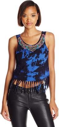 Glamorous Women's Embellished Fringe Top