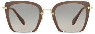 Miu Miu Oversized Square Sunglasses, 54mm $410 thestylecure.com