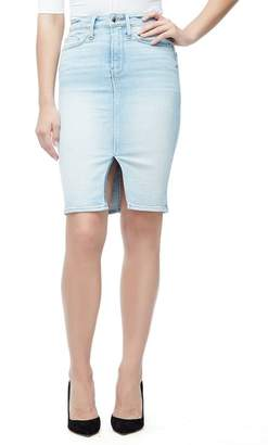 Good American The Pencil Skirt (Blue 146) (Regular & Plus Size)