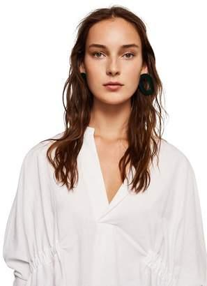 MANGO White 'Frankie' V-Neck Shirt