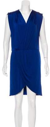 Halston Draped Surplice Dress