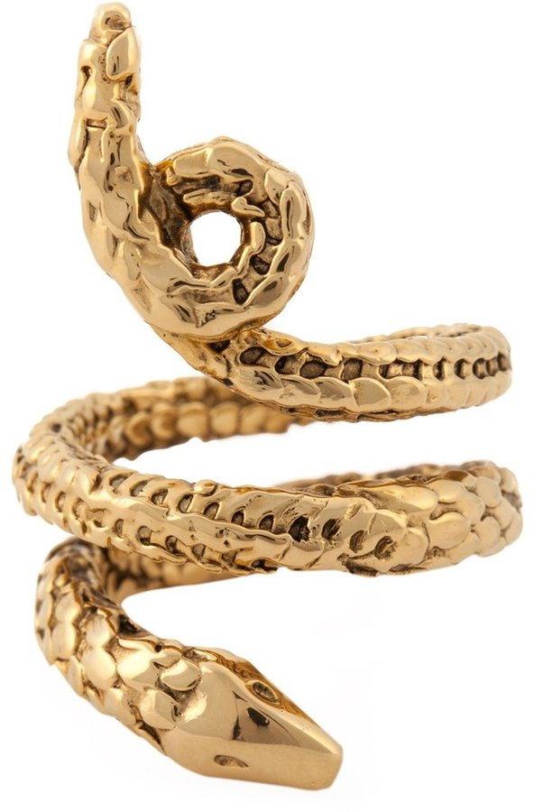 Aurelie BidermannAurelie Bidermann 'Asclepios' snake ring