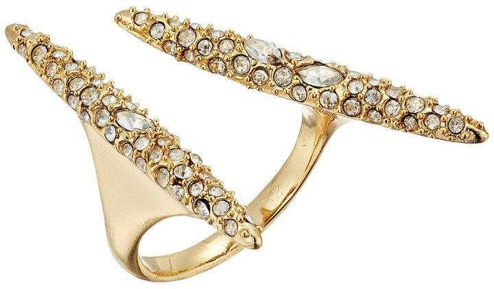 Alexis Bittar Alexis Bittar Crystal Encrusted Modernist Spear Ring
