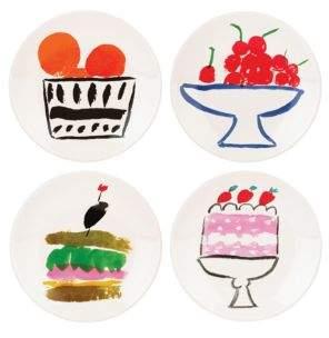 Kate Spade Set of Four Pretty Pantry Appetizer Plates
