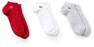 Lacoste Men's SPORT Low Cut Socks 3PK