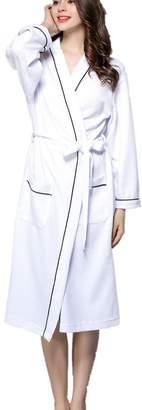 +Hotel by K-bros&Co APXPF Women's Hotel Spa Collection Plush Robe, Cotton Bathrobe Hot Spring Cotton Robe
