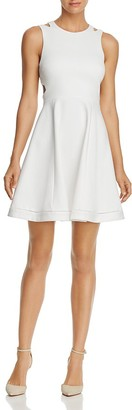 FRENCH CONNECTION Lula Cutout Fit & Flare Dress $198 thestylecure.com