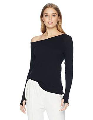 Enza Costa Women's Cashmere Off Shoulder Long Sleeve Top