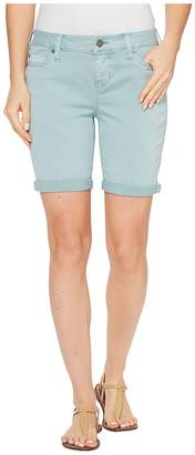 Liverpool Corine Walking Shorts Rolled-Cuff in Stretch Peached Twill in Slate Blue Women's Shorts