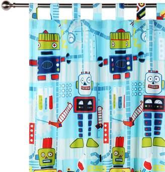 Happy Kids Robot Workshop Glow in the Dark Curtain