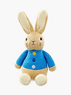 Peter Rabbit Knitted Flopsy Bunny Rabbit Soft Toy