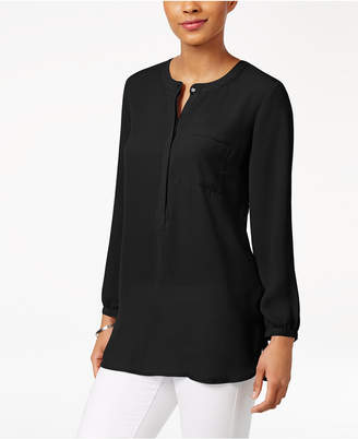 JM Collection Petite Pleated-Back Blouse