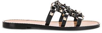Valentino Cagestuds Sandal in Nero | FWRD