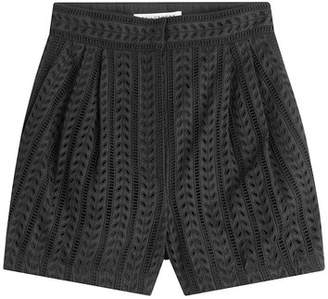 Philosophy di Lorenzo Serafini High-Waisted Cotton Eyelet Shorts