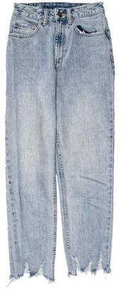 Ksubi High-Rise Distressed Jeans