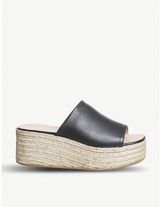 Office Seneka leather espadrille flatform sandals
