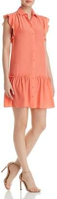 Kate Spade Ruffle-Sleeve Silk Dress