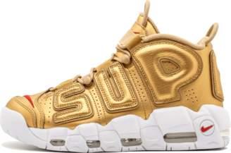 Nike More Uptempo Metallic Gold/White