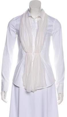 Brunello Cucinelli Long Sleeve Button Up Top