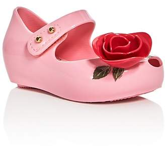 Mini Melissa Girls' Ultragirl Beauty and the Beast Mary Jane Flats - Toddler, Little Kid, Big Kid $65 thestylecure.com