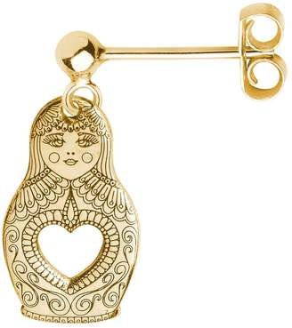 CarterGore - Gold Russian Doll Single Short Drop Earring