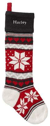 Pottery Barn Kids Snowflake Natural Fair Isle Stocking