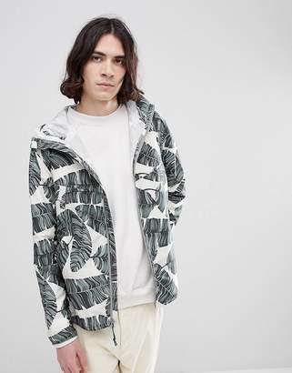 Herschel Voyage Packable Windbreaker Jacket In All Over Palm Print