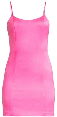 Alice + Olivia Nellie Exposed Zipper Mini Dress