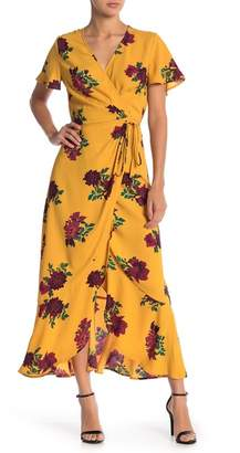 Free Press Floral Wrap Dress