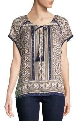 Daniel Rainn Printed Short-Sleeve Top
