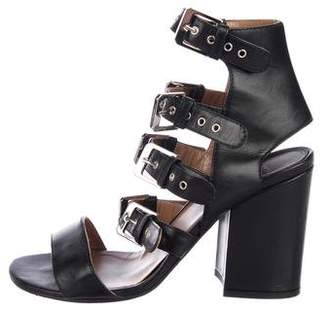 Laurence Dacade Leather Buckle-Accented Sandals