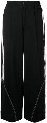 Y-3 wide leg track trousers