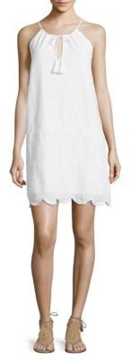 Vineyard Vines Cotton Eyelet Halter Dres $148 thestylecure.com