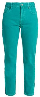 Etoile Isabel Marant Cliff High Rise Straight Leg Cropped Jeans - Womens - Emerald