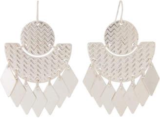 Schiff Marlyn Silver-Tone Diamond-Shaped Fringe Earrings