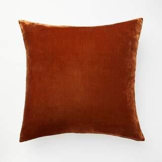 west elm Lush Velvet Pillow Cover - Copper