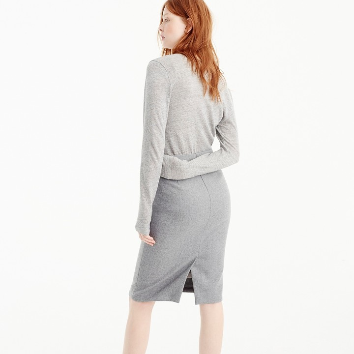J.Crew Tall No. 2 pencil skirt in double-serge wool