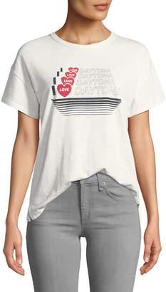 Rag & Bone I Love Daytona Crewneck Short-Sleeve Cotton Tee