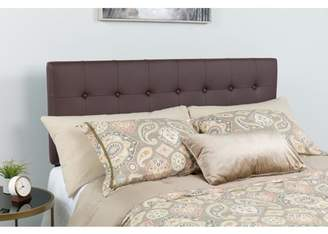 Flash Furniture Lennox Tufted Upholstered Full Size Headboard in Brown Vinyl