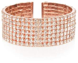 Quiz Rose Diamante Cuff