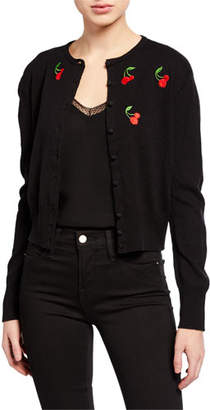 HVN Laura Embroidered Cardigan