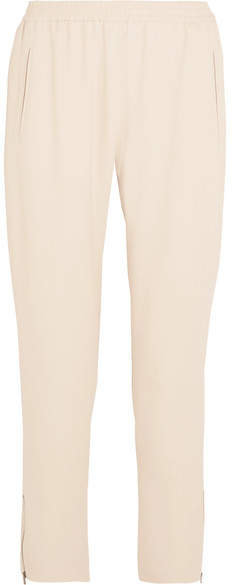 Stella McCartney Tamara Stretch-crepe Track Pants - Ecru