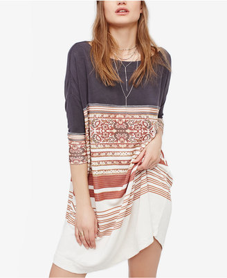 Free People Steppin Out Printed Shift Dress $108 thestylecure.com