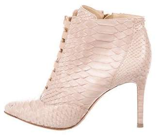 Alexandre Birman Snakeskin Ankle Boots
