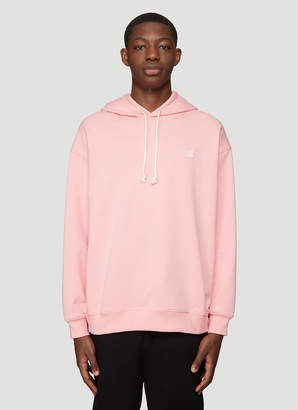 Acne Studios Hooded Oversized Face Patch Sweatshirt in Pink
