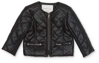 Habitual Kids Girls' Faux-Leather Quilted Jacket - Baby