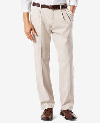 Dockers Big & Tall Easy Classic Pleated Fit Khaki Stretch Pants D4