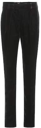 Saint Laurent Velvet high-waisted trousers